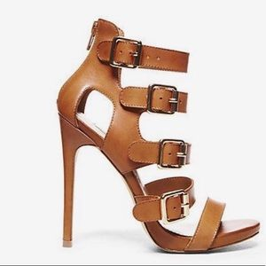 Recital Steve Madden heels, cognac size 6